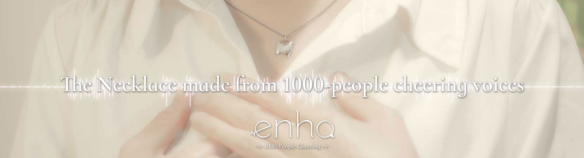 enha necklace made from 1000-people cheering voices.
